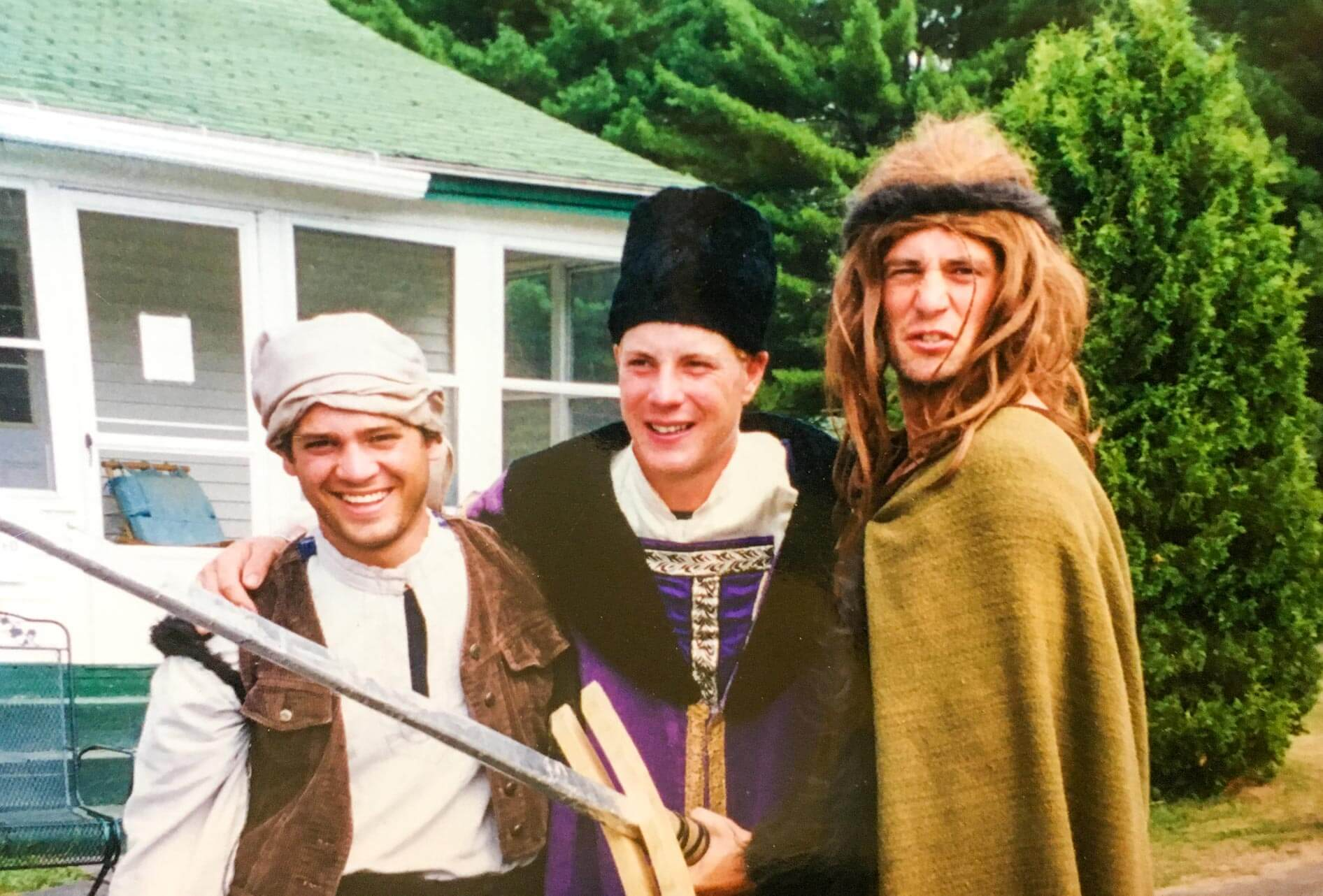 Throwback photo of campers in costumes