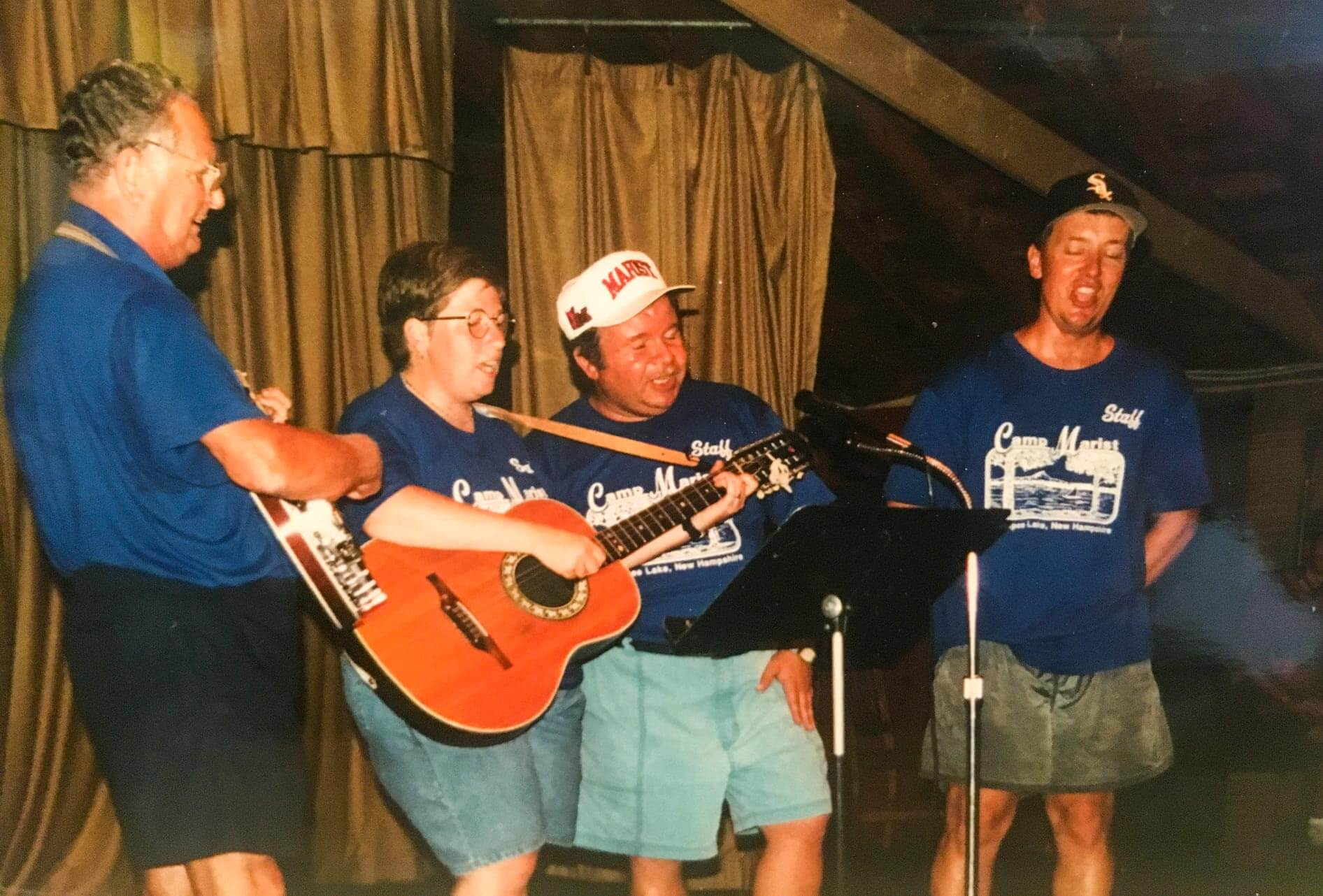 Camp Marist throwback photo of musical performance