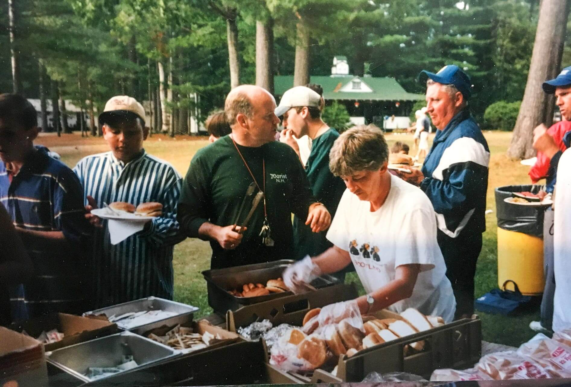 Throwback photo of camp barbecue