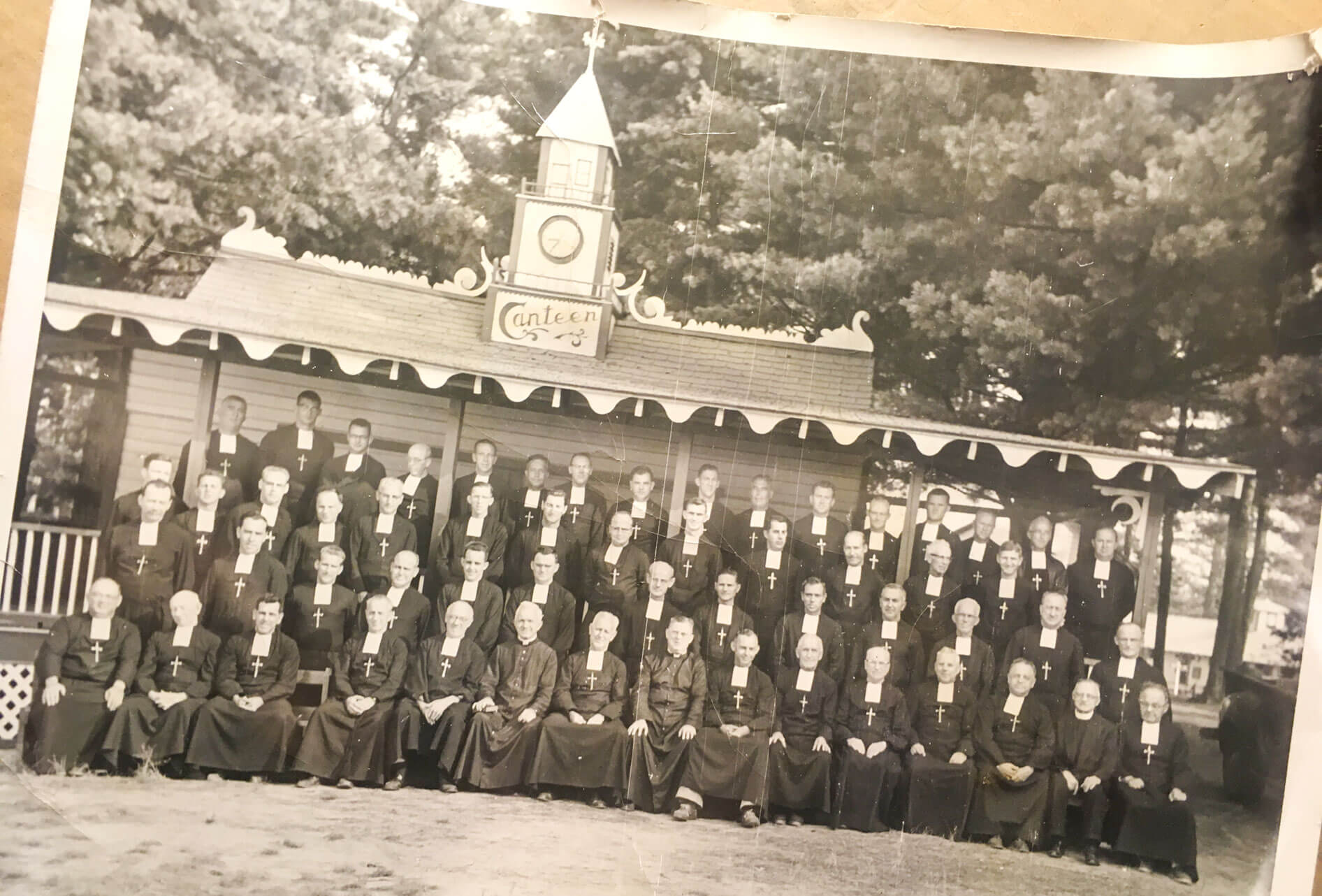 Old photo of Brothers of Camp Marist